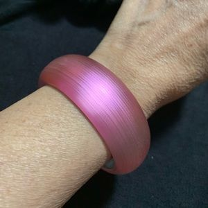 Alexis Bittar Wide Pink Bangle